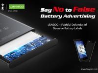 LEAGOO – верный защитник подлинных обозначений на своих батареях