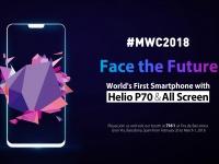 Ulefone покажет на MWC2018 первый безрамочный смартфон на MTK Helio P70 в мире