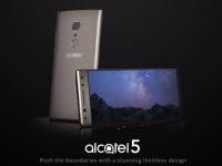 Безрамочный смартфон Alcatel 5 показался на пресс-рендерах