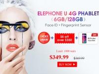 Товар дня: Elephone U и Elephone U Pro - 6 ГБ ОЗУ и 128 ГБ ПЗУ + Face ID