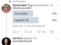 OnePlus троллит Xiaomi за удаленный пост с опросом на тему MIUI 9