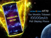 HOMTOM HT70 - самый тонкий в мире полноэкранный смартфон с батареей на 10000 мАч