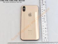 Золотой iPhone X на фото из FCC