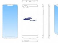 Samsung патентует смартфон с вырезом в верхней части экрана