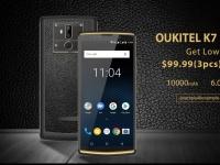 Опубликованы основные характеристики OUKITEL K7 и запущена подписка на трубку с возможностью купить ее за $99.99