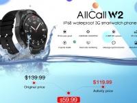 AllCall W2 – смарт-часы с защитой от влаги IP68 стартуют на распродаже за $59.99