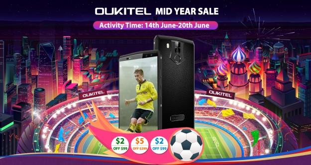 OUKITEL запустила распродажу смартфонов от .31 на Aliexpress
