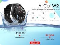 AllCall W2: водонепроницаемые 3G смарт-часы - телефон с защитой IP68. Полный обзор