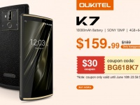 Oukitel K7 с батареей на 10000 мАч стартует на распродаже с 19 июня