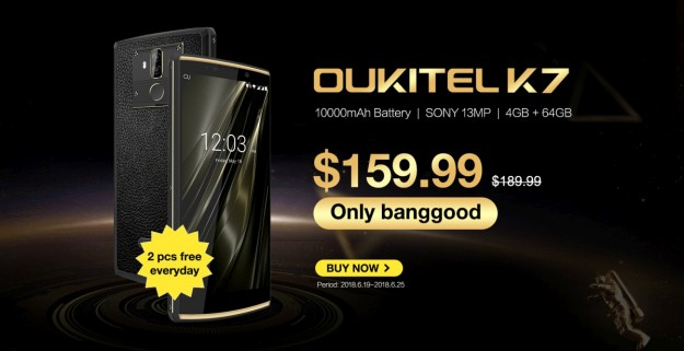 Смартфон Oukitel K7 с 10000 мАч предзаказ за $159.99