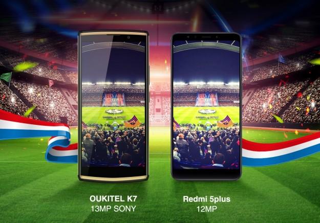Сравнение камер OUKITEL K7 и Xiaomi Redmi 5 Plus доступные на распродаже в Banggood