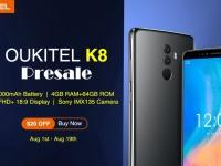 Смартфон Oukitel K8 с камерой Sony IMX135 доступен со скидкой $20