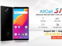 AllCall S1: смартфон с 5000 мАч доступен за $49.99 на Aliexpress