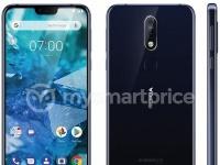 Опубликован официальный рендер смартфона Nokia 7.1 Plus