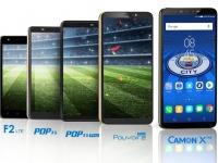 Бренд Tecno Mobile официально презентовал в Украине 5 камерофонов