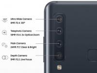 Подробности всех четырёх задних камер Samsung Galaxy A9