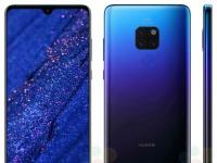 Рендер Huawei Mate 20 в цвете «полночный синий»