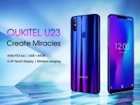 Опубликованы полные характеристики OUKITEL U23 – дисплей с вырезом 6.18, 6 ГБ ОЗУ, беспроводная зарядка