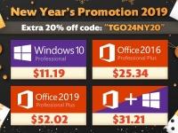 Новогодняя распродажа - Windows Pro $11.19, Office 2016 Pro $25.34, Office 2016 Pro $52.02