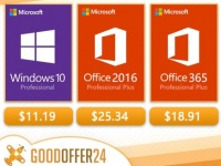 Софт дня: Windows Pro - $11.19, Office 2016 Pro - $25.34, Office 2019 Plus - $52.02