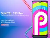 Утечка данных о смартфоне OUKITEL C15 Pro: первый в мире с чипсетом MT6761 и каплевидным вырезом в дисплее