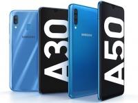 Анонс Samsung Galaxy A30 и А50 - середняки с Infinity-U в пластике