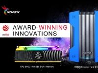 Внешний жесткий диск ADATA HD830 и модуль памяти SPECTRIC D80 XPG получили престижную награду Red Dot Design Award