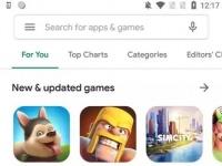 Опубликованы изображения нового дизайна Google Play