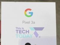 Коробка «фиолетовенького» Google Pixel 3a в подтвердила характеристики