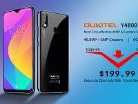 OUKITEL Y4800 с 48-мегапиксельной камерой и 6 ГБ ОЗУ + 128 ГБ ПЗУ продается по очень выгодной цене
