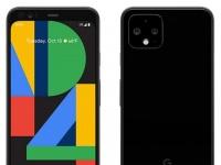 Пресс-рендер Google Pixel 4 в черном цвете