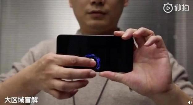 Следующий смартфон Xiaomi, возможно, сможет распознавать отпечатки в любой точке экрана