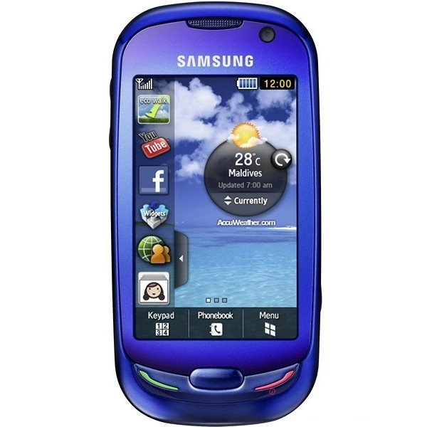 Samsung S7550 Blue Earth, прошивка, характеристики