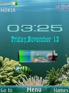Заставку Аквариум Уровень Батарея На Андроид