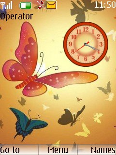 Butterfly Clock - скриншот 1