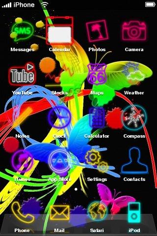 neon butterfly - скриншот 2