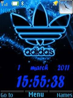 Adidas Clock - скриншот 1
