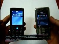 Видео битва Nokia N82 vs Samsung SGH-i550