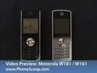 Видео сравнение Motorola W181 и Motorola W161 от PhoneScoop