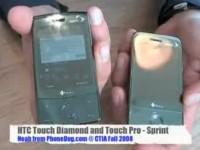 Видео сравнение HTC Touch Pro и Touch Diamond