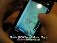 Демонстрация возможностей Nokia 5800 XpressMusic - Карты
