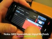 Демонстрация возможностей Nokia 5800 XpressMusic - Ввод текста