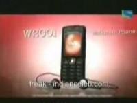 Индийский рекламный ролик Sony Ericsson W200i