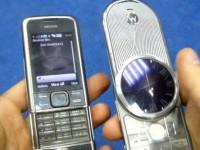 Видео сравнение Motorola Aura vs Nokia 8800 Carbon