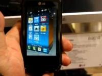 Видео обзор LG KM900: Интерфейс