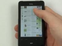 Видео обзор HTC Gratia: Интернет