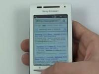 Видео обзор Sony Ericsson Xperia X8: Интернет