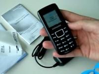 Видео обзор Samsung E1100