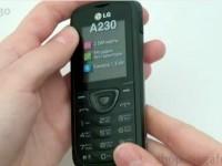 Видео обзор LG A230