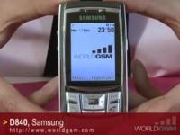Видео обзор SAMSUNG D840
